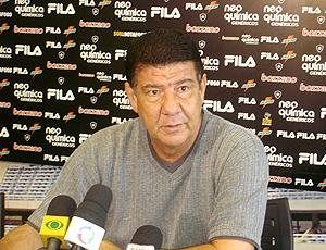 Joel Santana coletiva Botafogo