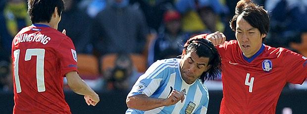 Tevez jogo Argentina contra Coreia do Norte