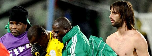 Vincent Enyeama goleiro Nigéria choro derrota
