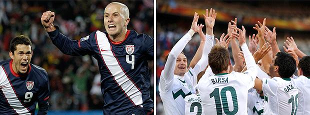 Wide: comemoração de gols EUA / Eslovênia