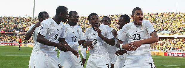 Comemoracao gol Gyan Gana na Austrália