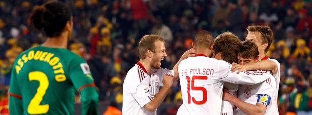 Jogadores Dinamarca gol