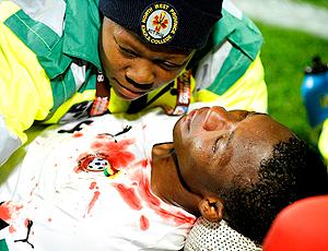 John Pantsil, jogador de Gana machucado
