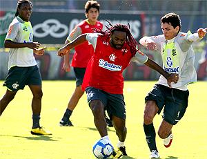 Vagner Love, Flamengo, Treino