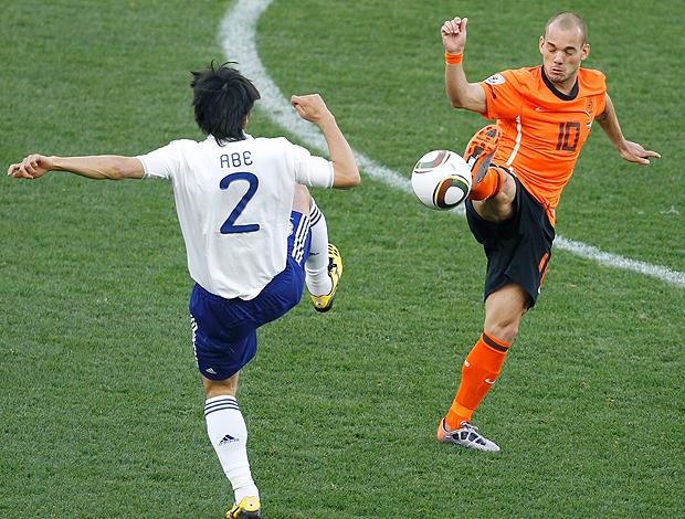 Yuki Abe no jogo entre Japão e Holanda