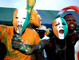 Caras pintadas Abidjan Costa do Marfim