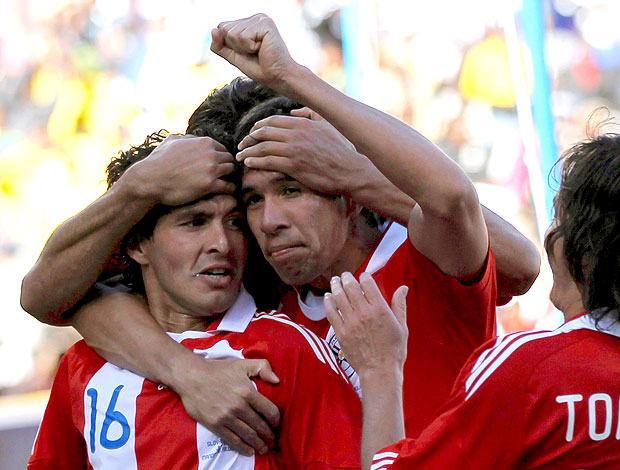 Riveiros comemoração Paraguai contra Eslováquia