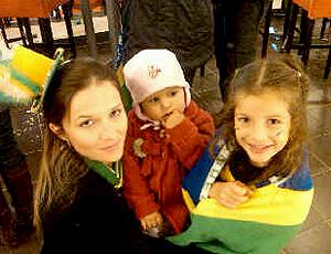 Alexandra esposa, Maria Teresa mais velha e Maria Clara a  mais nova