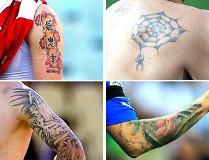 montagem tatuagens Copa do Mundo