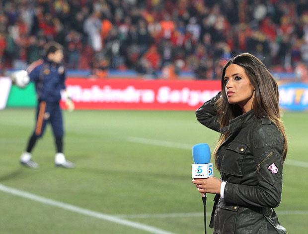 Sara Carbonero treino Casillas Espanha