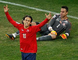 Valdivia comemoração Chile contra Suíça