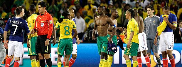 jogadores África do Sul contra França eliminados