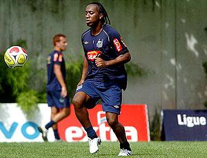 Arouca treino Santos