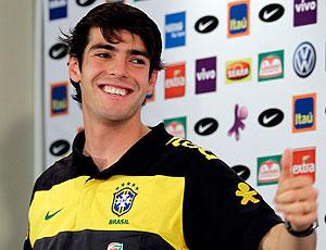 Kaká durante coletiva da seleção brasileira