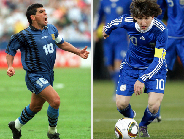 maradona messi montagem argentina