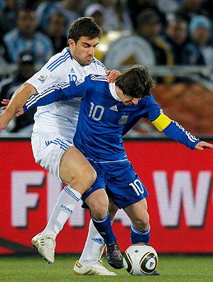 Messi jogo Argentina contra Grécia