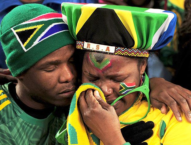 torcedores África do Sul choro