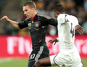 Lukas Podolski jogo Alemanha contra Gana
