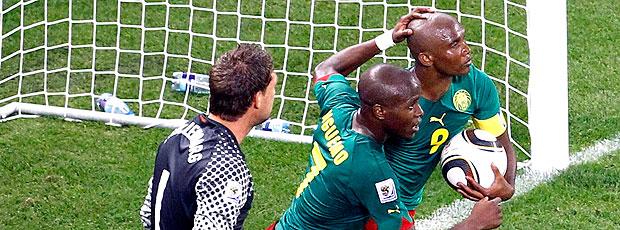 Eto´o  gol Camarões jogo Holanda
