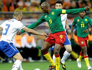Eto´o jogo Camarões contra Holanda