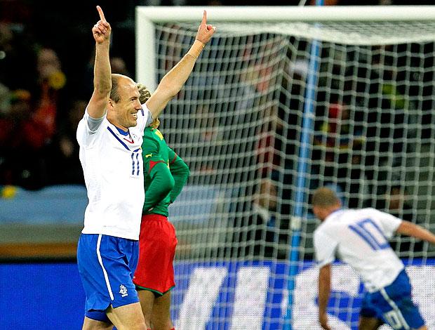 Robben comemoração Holanda contra Camarões