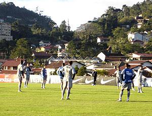 treino do Botafogo na Granja Comary