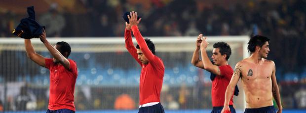 Chilenos comemoram Chile espanha