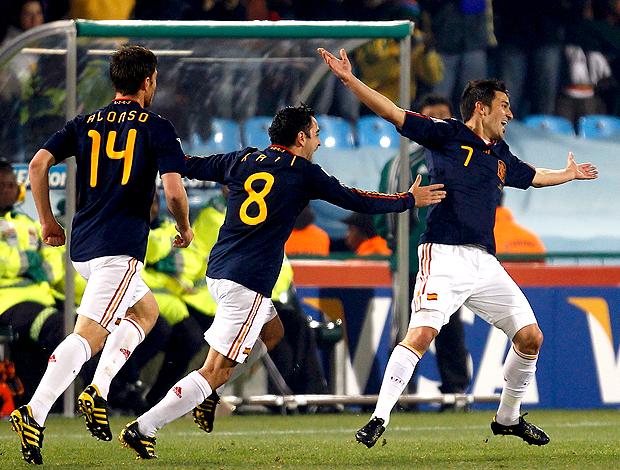 David Villa gol Espanha