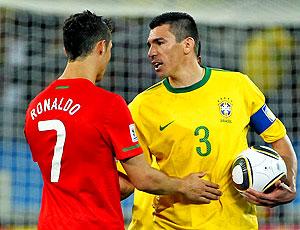 Lucio jogo Brasil contra Portugal