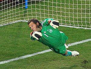 Atacante x goleiro (Atacante x goleiro (Getty Images))