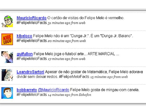 Felipe Melo no Twitter