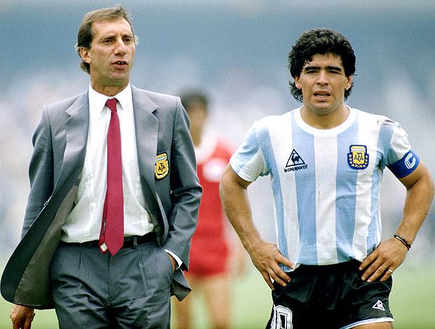 Bilardo e Maradona Argentina Copa 86
