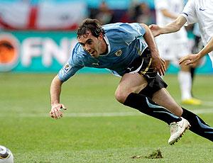 Diego Godín jogo Uruguai
