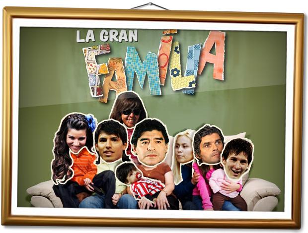 Montagem familia Maradona