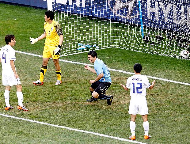Suarez gol Uruguai contra Coreia do Sul
