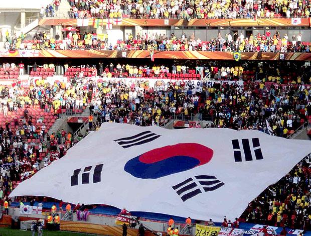 torcida Coreia do Sul bandeirão