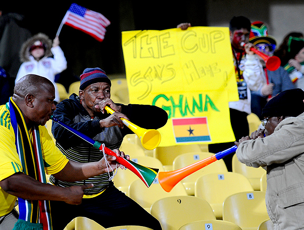 Torcedores Gana Vuvuzela (Foto: Getty Images)
