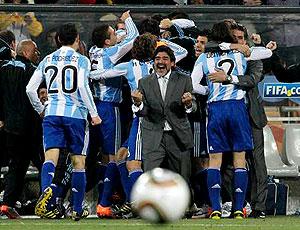 Maradona comemoração Argentina