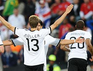 Muller Podolski  comemoração Alemanha