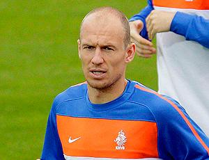 Robben em treino da Holanda