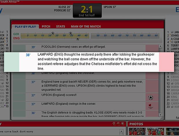Site Fifa lance Lampard Inglaterra Inglês