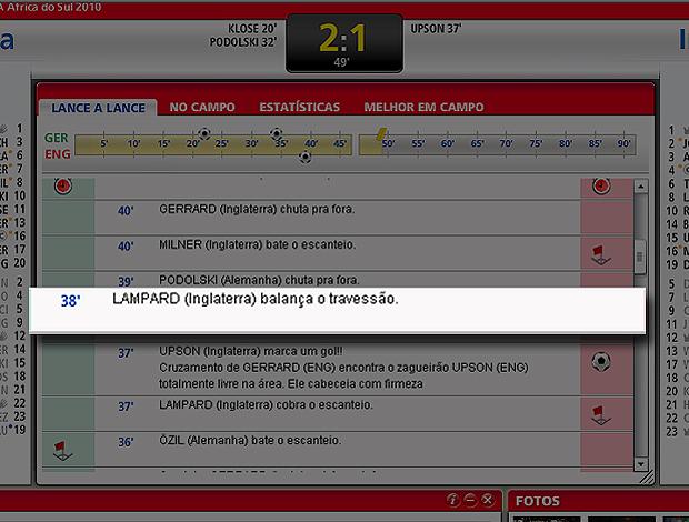 Site Fifa lance Lampard Inglaterra Português