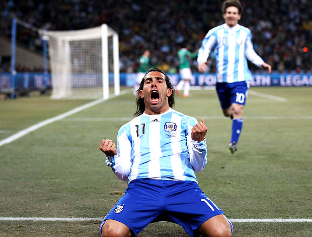 Tevez Messi gol Argentina
