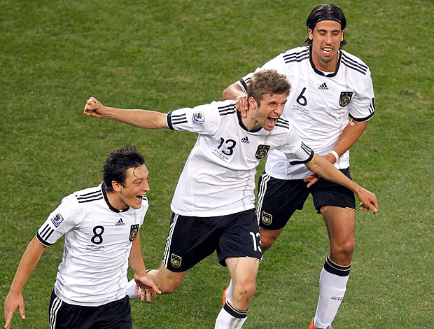 Thomas Müller comemoração  Alemanha contra Inglaterra