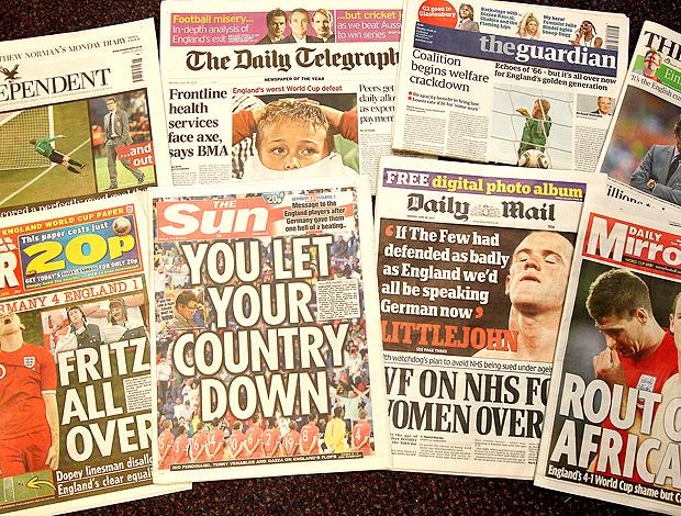 montagem jornais ingleses