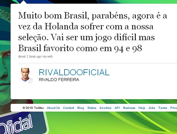 Rivaldo no twitter