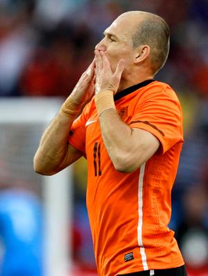 Comemoração gol Robben Holanda, na Eslováquia