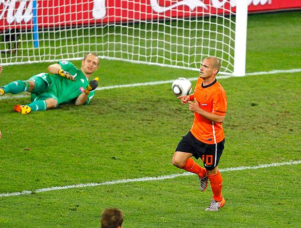 Gol Sneijder Holanda contra Eslováquia
