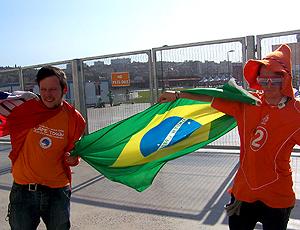 Torcida Holanda bandeira Brasil