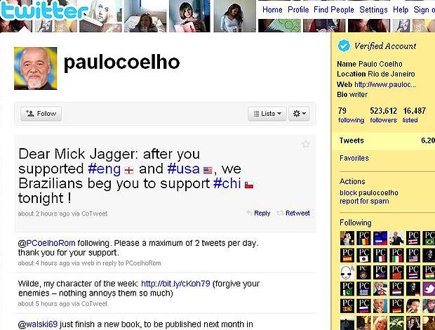 Twitter Paulo Coelho